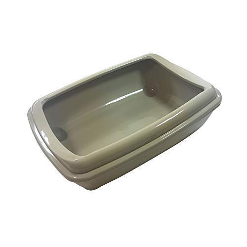"Offiziell Lizenziertes Katze Haustier Katzentoilette Toilette Acryl Taupe Grau 43 X 30 X 11CM - 17 \"" X 12 \"" X 5 \"""
