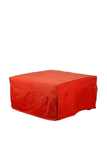13casa - evolution b9 - pouff letto. dim: 80x80x45 h cm. col: arancione. mat: metallo, poliestere.