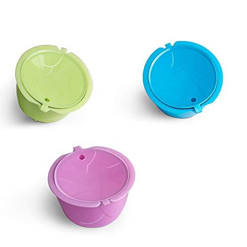 ShangSky Cápsulas de café reutilizables, cápsula de café recargable para Dolce Gusto, cápsulas...