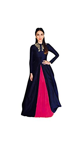 Vipul Women\'s Branded Blue & PINK Party Wear Silk Lehenga (Best Gift For Mummy Mom Wife Girl Friend, Exclusive Offers and Sale Discount)