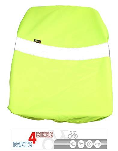 P4B Fahrradkorbabdeckung Regenschutz REFLEX Neongelb Wasserabweisend mit Reflexstreifen