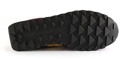 SAUCONY S2044-415 JAZZ ORIGINAL rosso giallo scarpe uomo sneakers lacci Bordeaux
