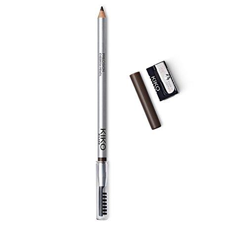 kiko Milano Précision crayon de sourcils sourcils crayon avec micro-precision Dur formule et séparateur peigne Marron foncé (02 Dark Chestnut)