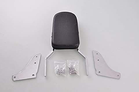 Wotefusi Motorcycle New Chrome Skull Backrest Sissy Bar with Pad