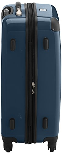 HAUPTSTADTKOFFER - Alex - 2er Koffer-Set Hartschale glänzend, TSA, 65 cm + 55 cm, 74 Liter + 42 Liter, Orange-Aubergine Magenta-Waldgrün