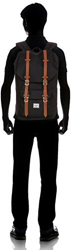 Little America Backpack Black/Tan Synthetic Leather Backpack