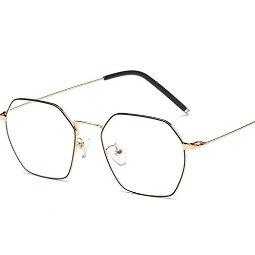 ZYY Anti Blue Light Brille , Unisex Runde Metallrahmen Klare Linse Vintage Retro Geek Mode Brille Specs (Farbe : D)