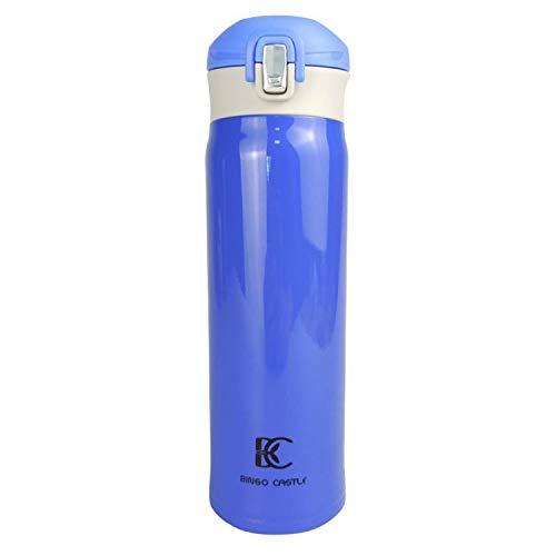Vakuum Isoliert Thermobecher Edelstahl, 480von Bingo Castle 6.5*6.5*21.8cm blau - Mug Vakuum-versiegelt Travel