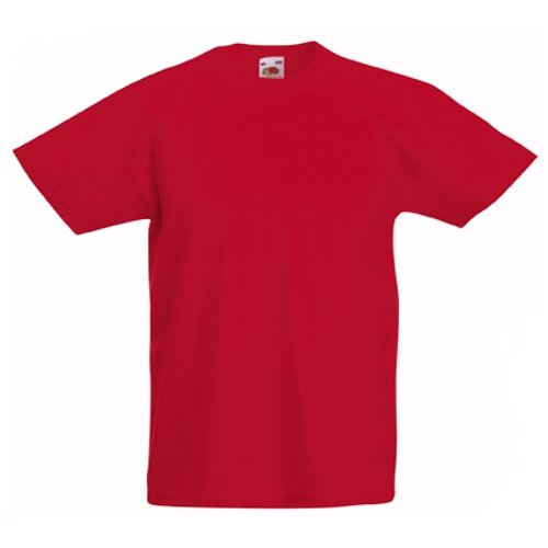 Fruit of the Loom Jungen T-Shirt rot rot 3 Jahre