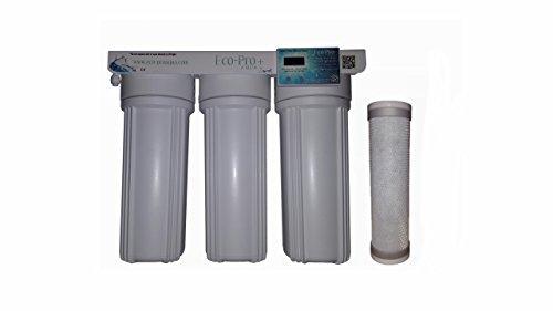 Wasser-filtration-fluorid (Die eco-pro + 3Stage Silberionen-Wasser Filter Kit, Untertisch-System mit 4Gramm von reinem Silber. 2Sets von Filter Plus Digitaler Timer mit Alert Wenn Zu ersetzen Filter)