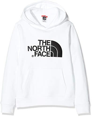 The North Face Y Drew Peak Po HD, Felpa con Cappuccio Bambino, Bianco (TNF White/TNF White/TNF Black), XS