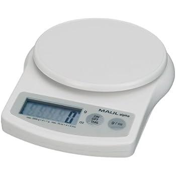 Maul 1642002 Briefwaage MAULalpha, Kunststoff, Batterie, Tragkraft 2000 g, Weiß, 1 Stück