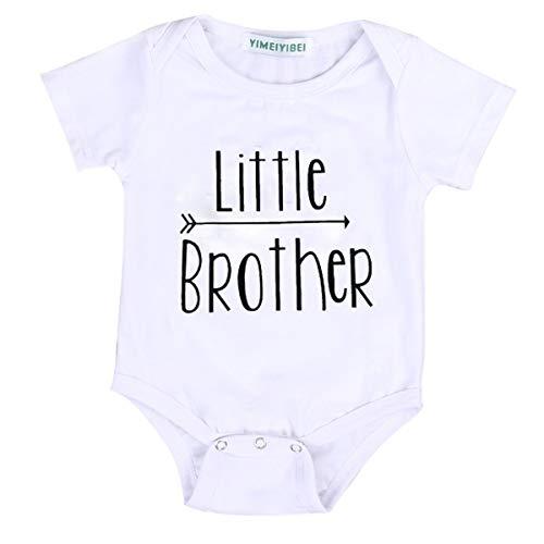 Baby Mädchen Junge Kleine Schwester Kleine Bruder und Große Schwester Große Bruder Weiß Kleidung Overall Strampler Outfits Tops T Shirts (70/0-3 Monate, Little Brother) (Große-bruder-schwester-shirt)