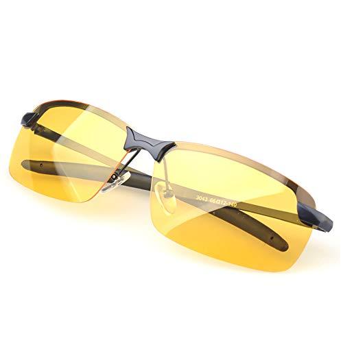 Mouwa Best Driving Glasses, Nachtsichtbrille Semi-Rimless Anti Glare Glasses Für Nachtfahrten Polarisierte Sonnenbrillen Zum Angeln Fahren Und Outdoor-Sport,A