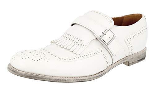 Prada 2OF001, Herren Schnürhalbschuhe, Weiß - weiß - Größe: 38.5 EU - Schuhe Kleid Männer Prada