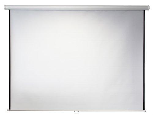 ivolum Rolloleinwand 200 x 200cm Nutzfläche   Format 1:1   Als Heimkino-Leinwand oder Business-Leinwand einsetzbar   einfach Montage und Bedienung   Beamer-Leinwand in verschiedenen Größen erhältlich