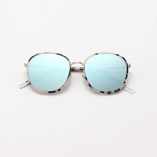 SCJ Stil von Ollie The Sun Spiegel die weibliche Flut Stern und Stil halten ultraviolette Strahlen Davon ab, alte gewohnheiten wiederzubeleben eine große Sonnenbrille in puderfarbe mit rundem ge
