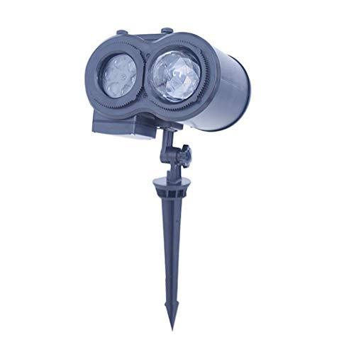 YCRD Ferien Dekoration Projektions Lampe LED-Karte Doppel-Röhren Wasser-Muster Rasen Licht Outdoor-Licht-Bühne Light Christmas Halloween Landschafts Projektor