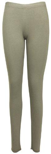 Femmes Neuf Décontracté Grande Taille Pantalon Extensible Dames Uni ÀÉlastique Long Legging Base Moka