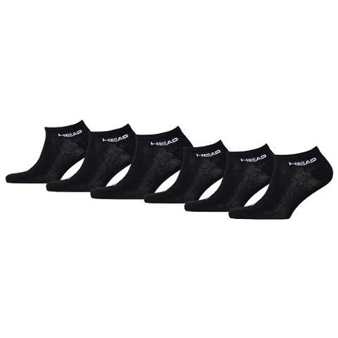 HEAD Unisex Sport Sneaker Socken Sportsocken 6er Pack black 200 - 43/46