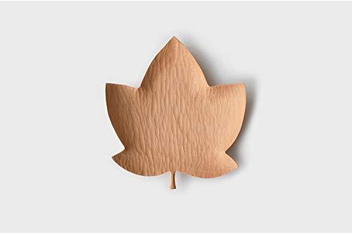 Maple Leaf Dish (PORCN Maple Leaf Dish Original handgefertigte Holz Coaster kreative Holzplatte für Obst/Süßigkeiten Multi-Use-Tisch Dekor Lebensmittelplatten, 15 * 17 * 2 cm)