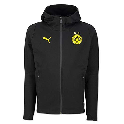 Puma BVB Casual Hoody Without Sponsor Logo Chaqueta, Hombre, Black, XXXL