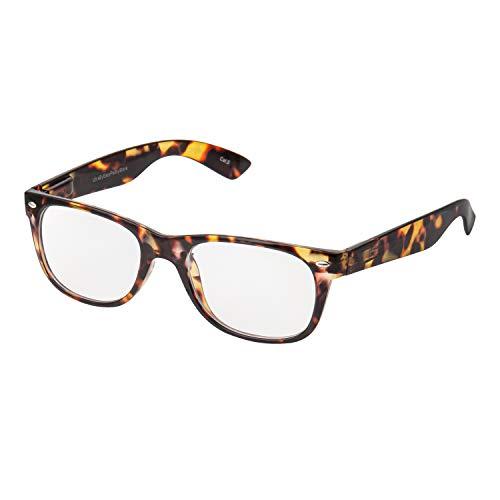 Ultra Schildkrötenrahmen Anti Blue Light Brille Blockiert UV-Filter Anti-Augen-Ermüdung Bei Der Verbesserung des Schlafes Männer Frauen Klare Transparente Unisex-Linsen Computer-Gaming-Lesebrille (Teen Lesen)