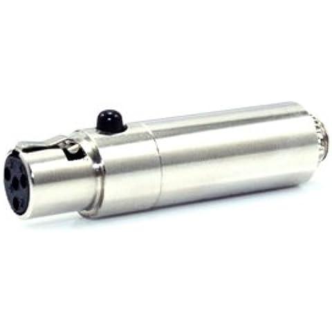 convertir Sennheiser Micrófono para Shure inalámbrico Bodypack Conector ypa MA204adaptador