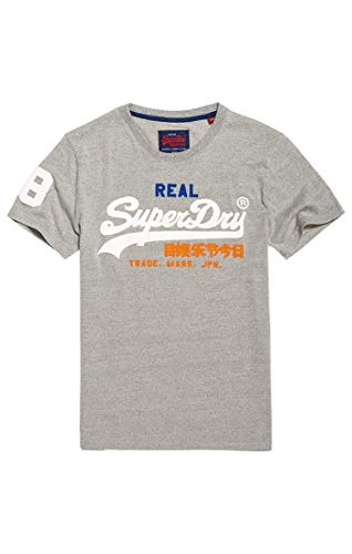 Superdry Men's Vintage Logo Tri Tee Kniited Tank Top, (Montana Grey Grit Vy8), X-large