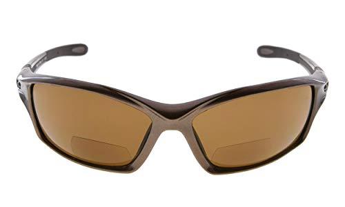 Eyekepper TR90 Rahmen Bifokal Sport Sonnenbrille Baseball Laufen Angeln Fahren Golf Softball Wandern Leser (Perliges Braun, 2.50)