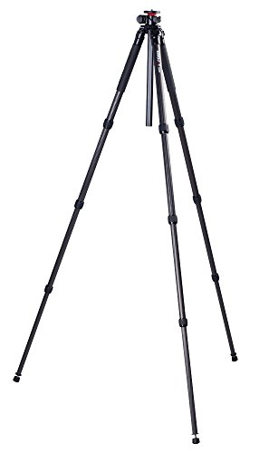 Kingjoy Versatile T2208R Professional 4 Section Carbon Fibre Tripod with Multi Angle Centre Column and Bag