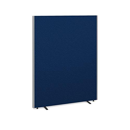 Bureau-lphant-Oe08814-b-sur-pied-cran-Hauteur-1800-mm-Largeur-1400-mm–profondeur-40-mm-recouvert-dun-tissu-bleu-Livr-avec-pieds-de-stabilisation