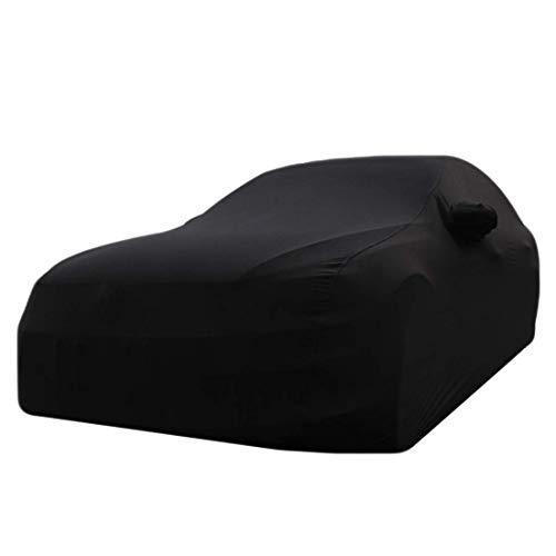 Mnjin wasserdichte, atmungsaktive Autoabdeckung Regenfest, Winddicht, Staubdicht, UV-beständig, Nicht brennbare, elastische Stoffabdeckung, Geeignet für A-UDI-Modelle