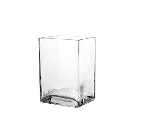 Pasabahce 80135Flora Jarrón Cristal Rectangular, 8x 10x 14cm