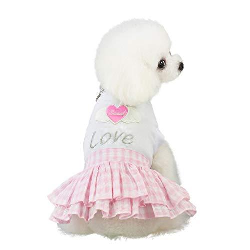 Winkey  Kleidung für Hunde, Haustier-Frühlings-und Sommer-Liebes-Herz-Druckrock-Hundekostüme-Haustier-Hundekleidung -