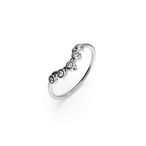 prettique Ring Stella mit gefassten Zirkonia Steinen