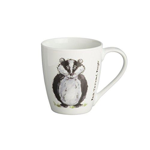 Price & Kensington arrière vers l'avant Blanc Porcelaine Fine Mug de Blaireau