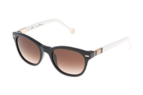 Carolina herrera she60051700x, occhiali da sole donna, nero (negro), 51
