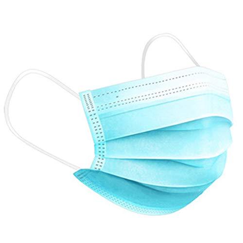 Einweg-Gesichtsmasken, 100 Packungen medizinischer chirurgischer Gesichtsmasken, atmungsaktive Staubfiltermasken, Mundabdeckung, Masken mit elastischer Ohrschlaufe für den täglichen