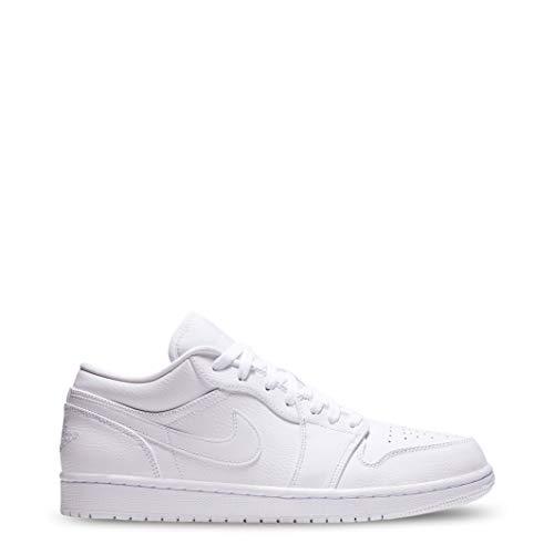 Nike Herren Air Jordan 1 Low Basketballschuhe, Weiß White 112, 46 EU