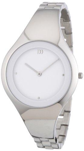 Danish Design 3324457 - Reloj analógico de cuarzo para mujer con correa de acero inoxidable, color plateado
