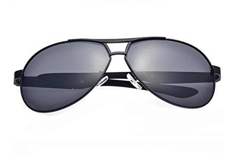 GZD Lunettes de soleil polarisées black frame gray