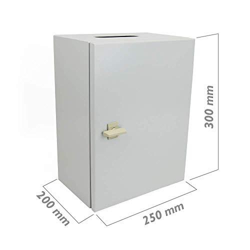 Cablematic - Caja de distribución eléctrica metálica con protección IP65 para fijación...
