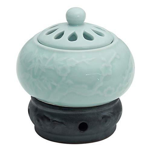 Weihrauch-Brenner - Timing Temperaturregelung elektronische Keramik Aromatherapie Ofen - Agarwood Ofen ätherisches Öl elektronische Aromatherapie Lampe -