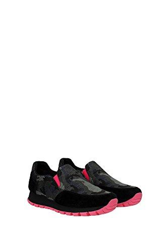 3S5947PINK Prada Sneakers Femme Tissu Vert Vert