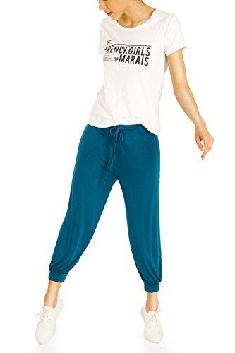 Bestyledberlin Pantalon de sport femme, jogging boufant Marron