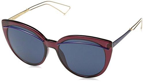 Dior Damen DIORLINER KU UGS Sonnenbrille, Rot (Burgundy Gold/Blue Avio), 56