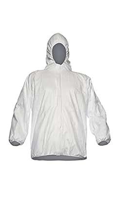 Blouson à cagoule Tyvek, Modèle PP33, Blanc, XL (Paquet de 50)