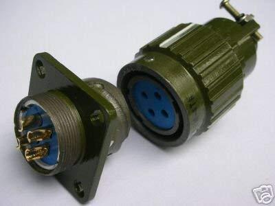 Ochoos Military Gold 4-poliger Twist-Stecker weiblich F4P -