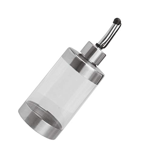 Hotaluyt 304 in Acciaio Inox condimento Bottiglia Dispenser Olio Pot Aceto Bottiglia Trasparente Contenitore Visibile Jar 350ml